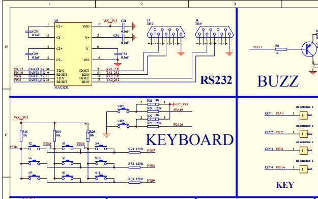 K60N512開發板電路原理圖集錦