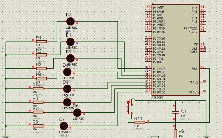 使用单片机实现左右来回流水的8个LED基础教程