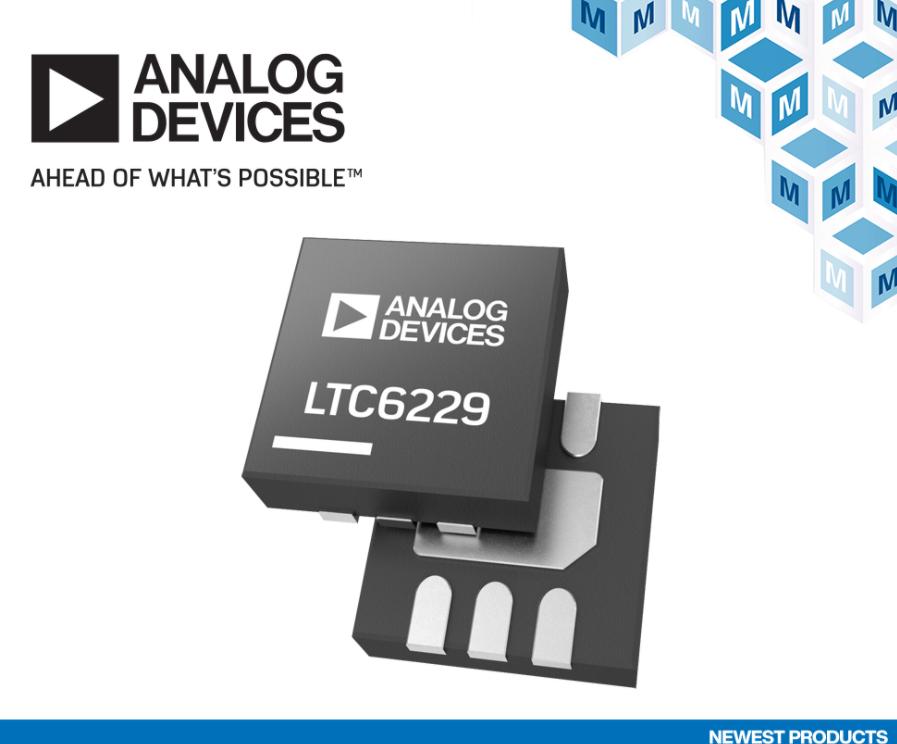 貿澤開售Analog Devices LTC6228和LTC6229運算放大器