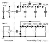 肖特基二极管组成的电荷泵多电压输出电路