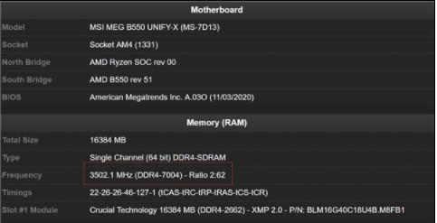 AMD锐龙5 Pro 4650G创造了新的内存超频记录