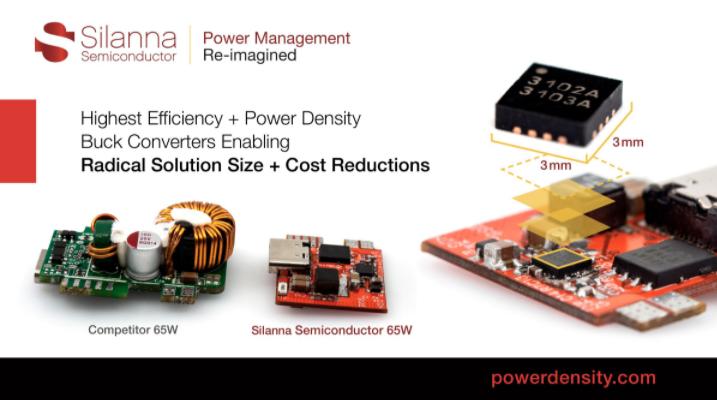 Silanna Semiconductor专注电源管理挑战 推出行业领先的DC-DC转换器系列