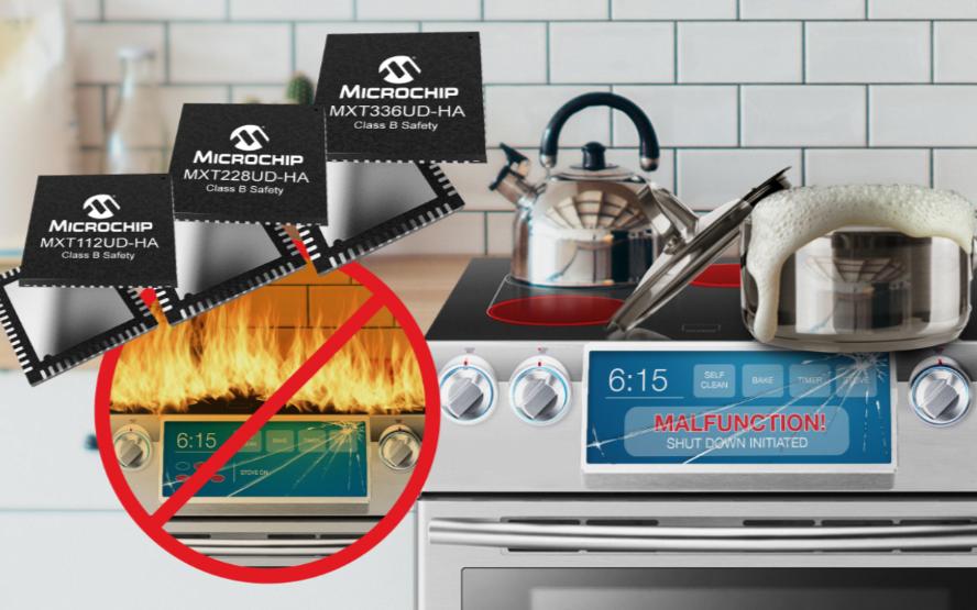 Microchip推出全球首個通過家電市場安全認證的電容式觸摸屏控制器系列