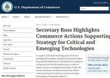 美国宣布将六项新兴技术添加到《出口管理条例》