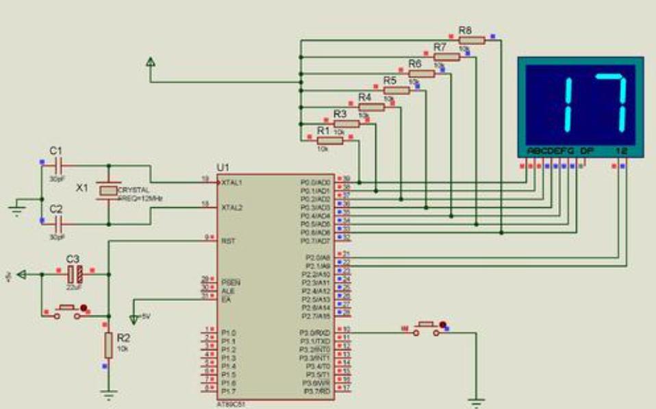 使用單片機實現兩按鍵加減操作數碼管顯示的C語言程序免費