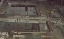 无人机飞入废弃的切尔诺贝利核电站进行核电站反应堆采集