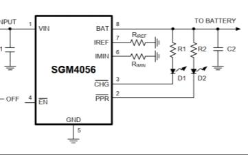 SGM4056高输入电压锂电池充电器的中文数据手册免费下载