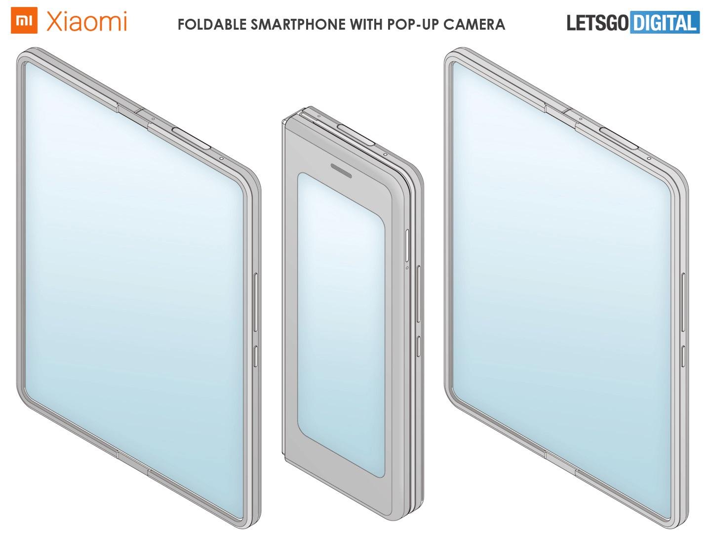 小米申请新折叠手机专利:弹出式摄像头