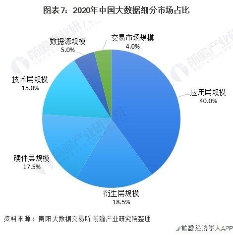 图表7:2020年中国大数据细分市场占比
