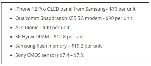 爆iPhone 12 Pro最贵元器件是高通X55基带