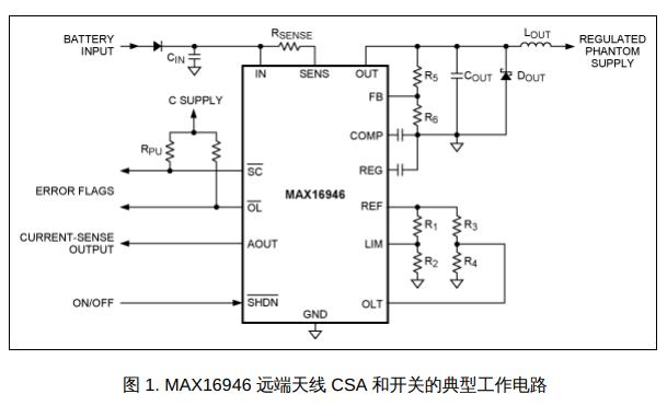 汽车远端天线稳压器和检流放大器的外部元件选择