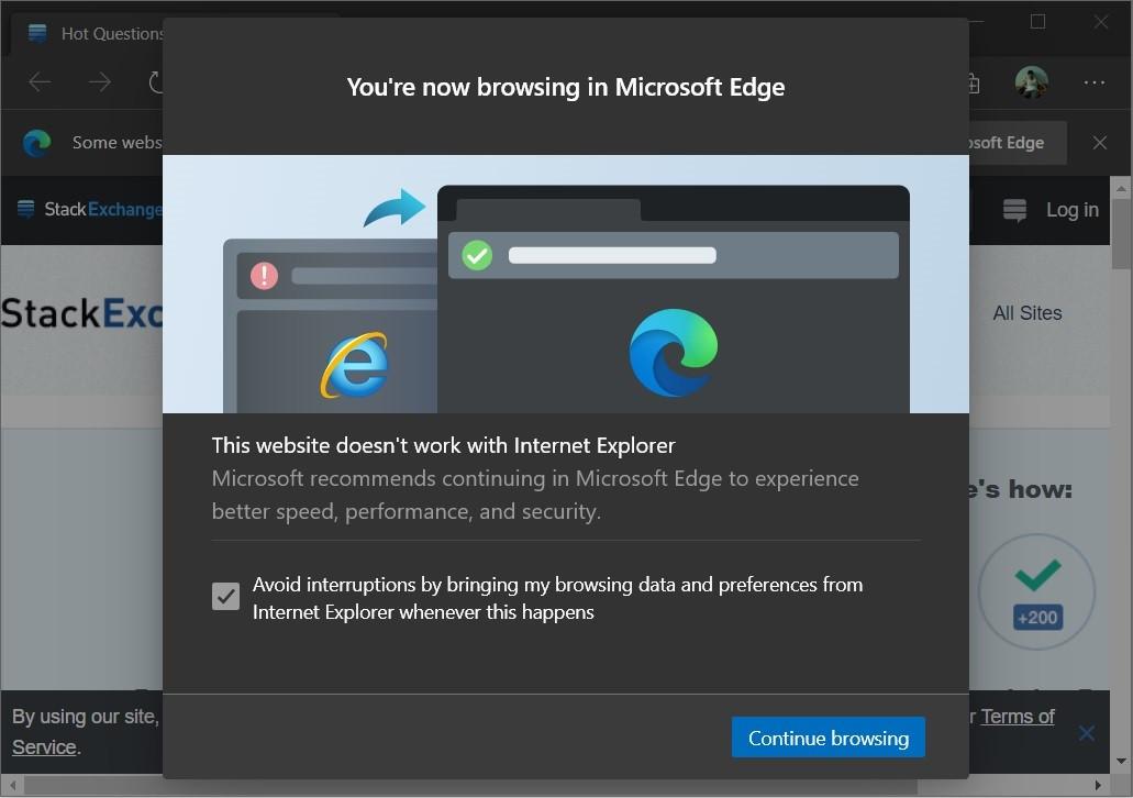 微软不希望用户使用IE浏览网站