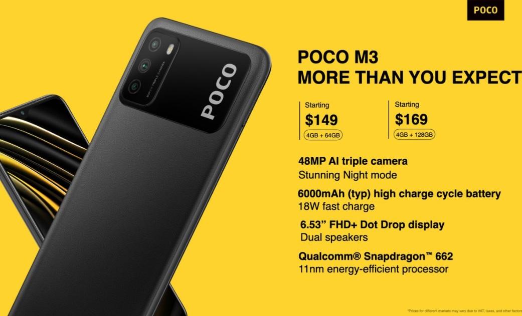 小米POCO M3海外發布:149美元起