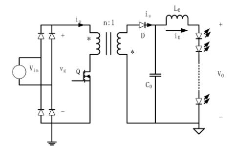 如何使用反激变换器实现无电解电容LED驱动电源的研究设计