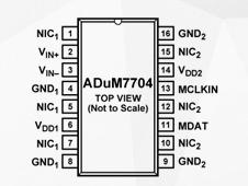 高性能二阶Σ-Δ调制器ADuM7704的功能特点及应用范围