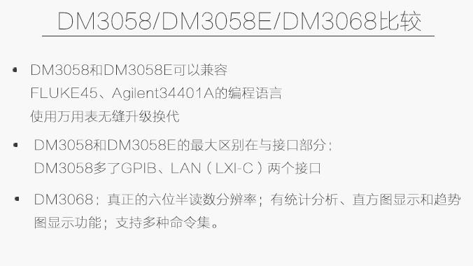 经济型5.5位数字万用表DM3058/E的特点及功能应用