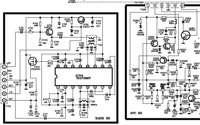 TCL彩电AT21228的电路原理图免费下载