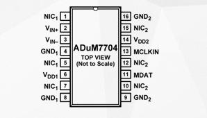 高性能二階Σ-Δ調制器ADuM7704的功能及應用范圍