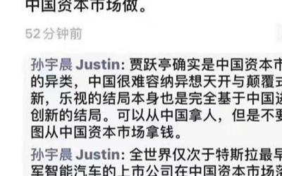 新能源:孙宇晨再度回归公众视野 为割韭菜的贾跃亭平反