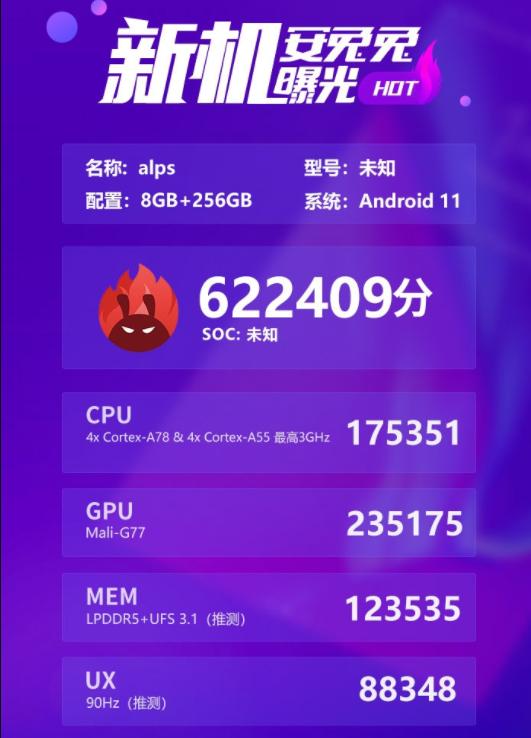 曝联发科新SoC跑分已超高通骁龙865