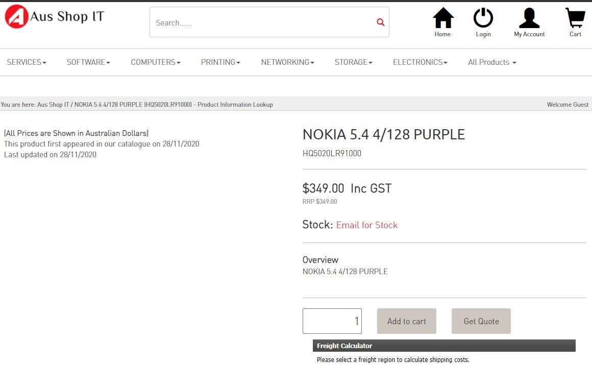 诺基亚5.4有望本月推出