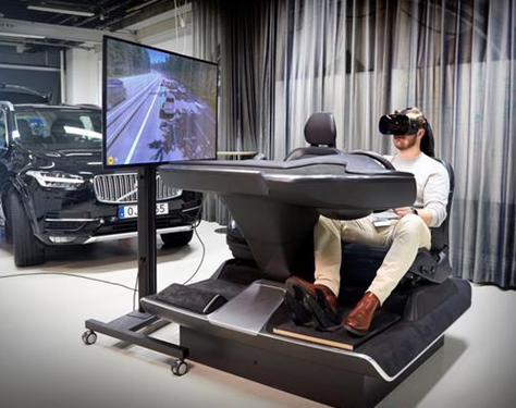 沃尔沃推高度仿真驾驶模拟装置,体验真实游戏