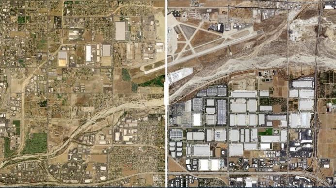 美国的网购发展正在改变乡镇地址面貌