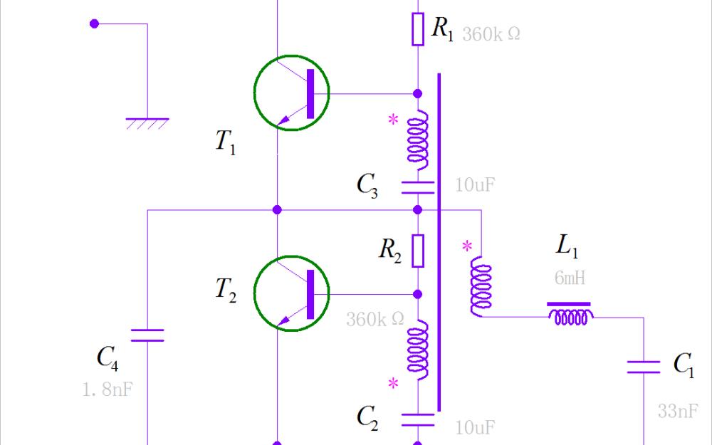 对小型荧光电路工作原理进行验证