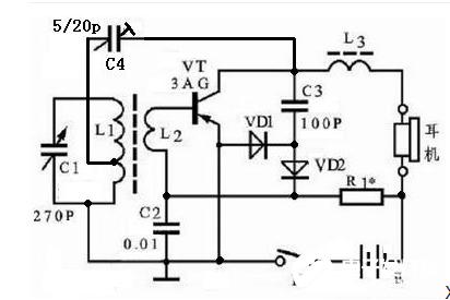 单管收音机电路图解析