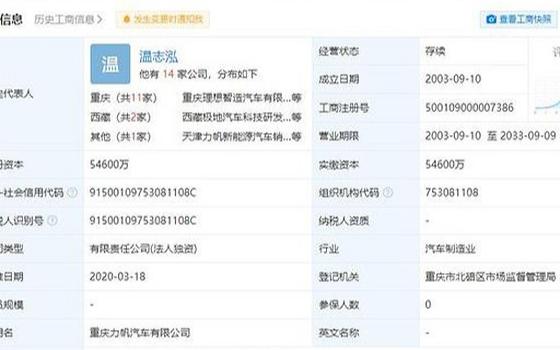 重庆理想智造汽车有限公司再被执行,累计执行标的超一千万