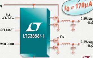 同步降压型DC/DC控制器LTC3858/-1的性能特点及功能应用