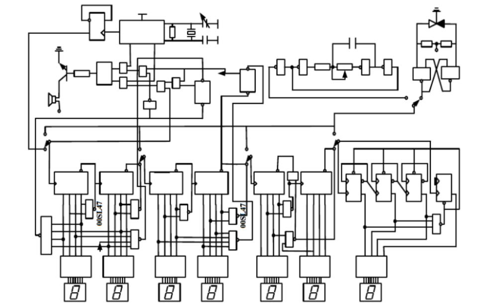 数字电子钟的电路设计的详细资料说明