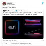 消息称苹果计划在2021年发布其他Mac机型