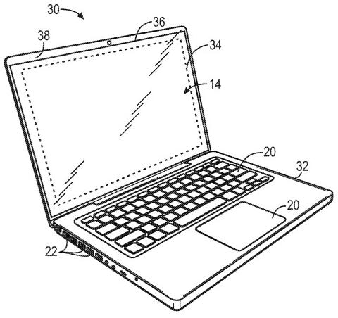 苹果正通过隐藏控制电路来减少设备的显示屏边框