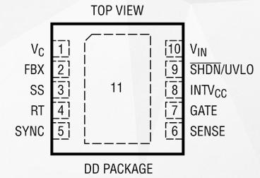 寬輸入范圍DC/DC控制器LT3757的性能特點及應用