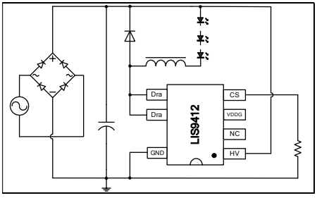 LED恒流驱动的控制芯片LIS9412的数据手册免费下载