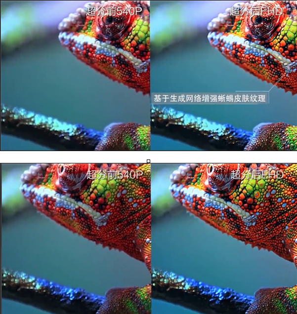 华为演示AI视频超分技术,可将540P变成1080P