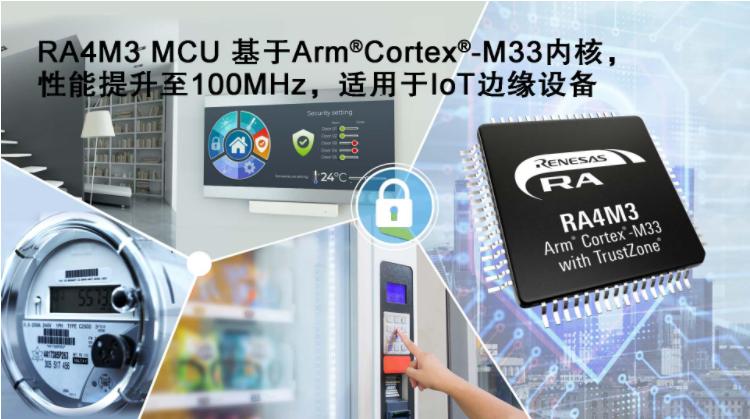 瑞薩電子推出適于工業與物聯網應用的RA4M3 M...