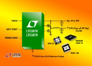 同步降壓型DC/DC控制器LTC3878/79的性能特點及應用范圍
