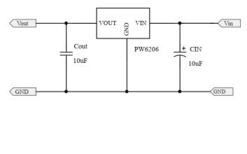 PW6206 LDO线性稳压器的数据手册