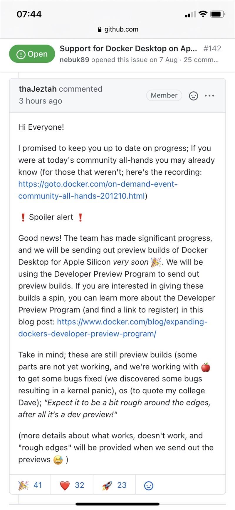Docker开发预览版即将支持苹果Mac M1芯片