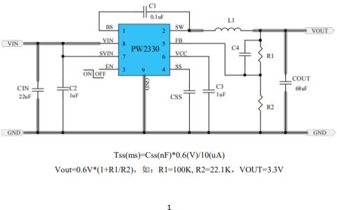PW2330同步降压调节器的数据手册