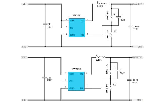 PW2052同步降壓調節器的數據手冊