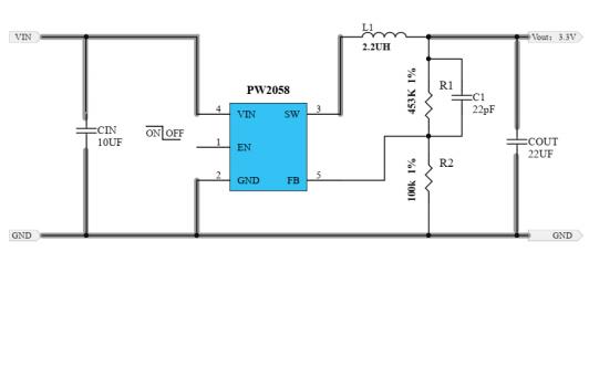 PW2058和PW2059同步降壓轉換器的數據手冊免費下載