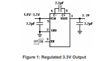 HU3031D低噪声稳压电荷泵DCDC变换器芯片的数据手册
