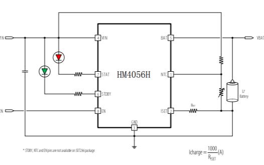 HM4056H鋰離子電池充電器的數據手冊免費下載