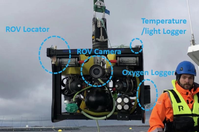 科学团队研发用于监测养鱼场的水下机器人
