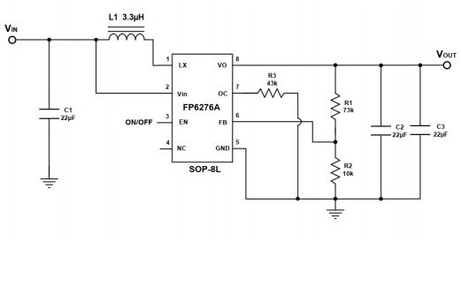 FP6276A高效同步PWM升压变换器的数据手册免费下载