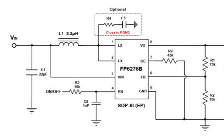 FP6276B電流模式升壓DC-DC轉換器最新中文規格書