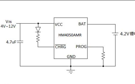 HM4050AMR鋰離子電池充電器的數據手冊免費下載